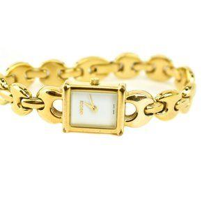 """GUCCI """"Marina"""": Gold, Metal Logo Women's Quartz ot"""